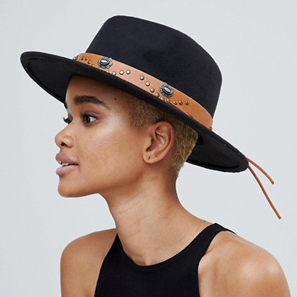brown felt fedora sun hats for women