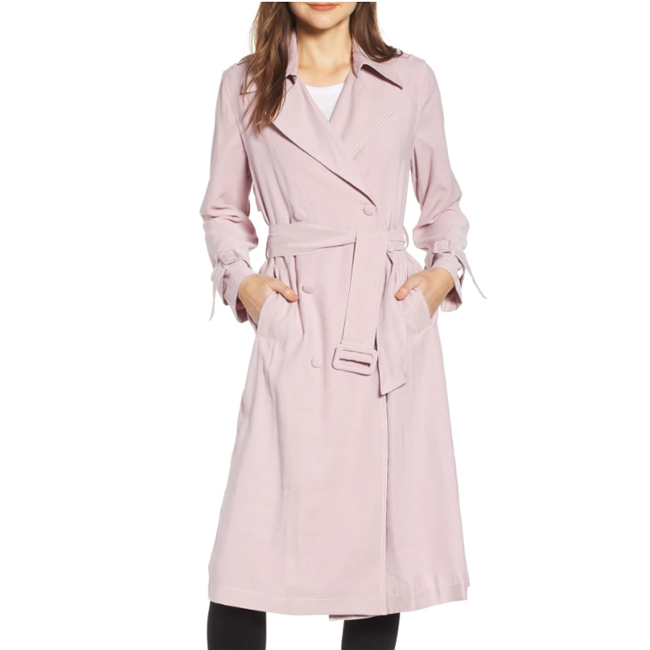 Lightweight Spring Jackets Moon River Draped Trench Coat