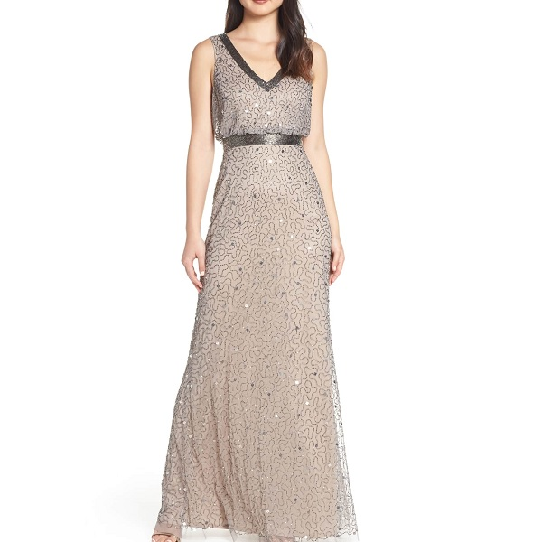 adrianna papell beaded gown from Nordstrom Prom dresses