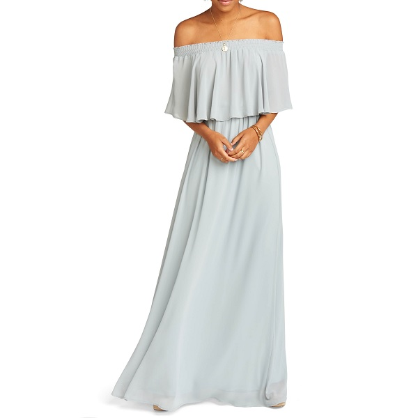show me your mumu nordstrom prom dress in gray