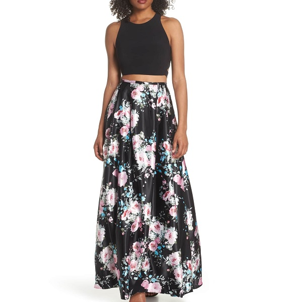 floral two-piece prom dress from Nordstrom