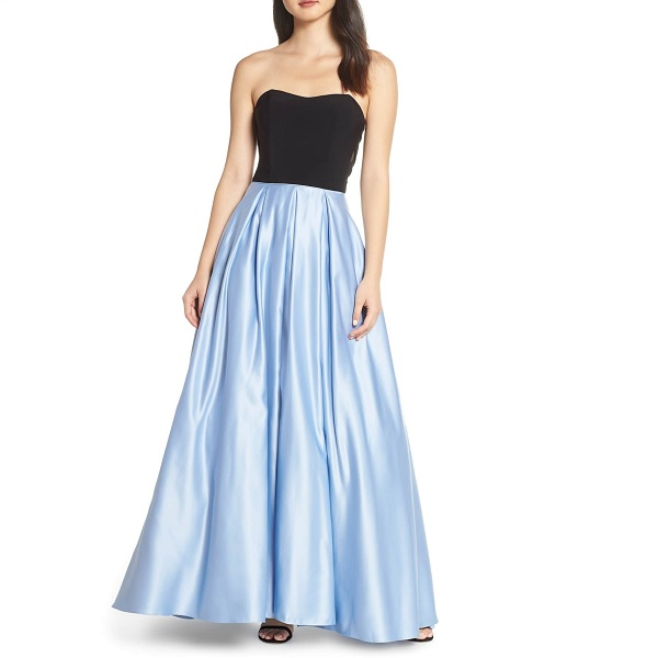 black and blue nordstrom prom dress