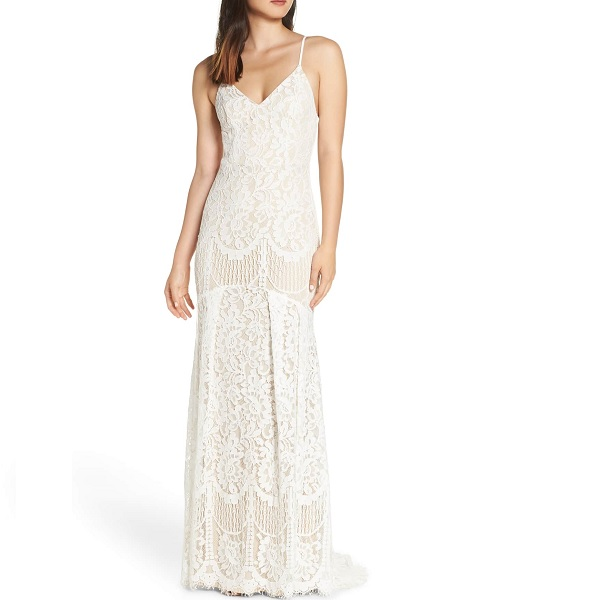 lulu's white lace dress for Nordstrom prom