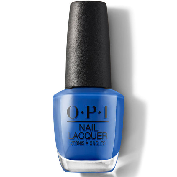 summer nail polish colors in a bright, cobalt blue