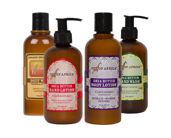 Out of Africa Shea Butter Washes and Lotions