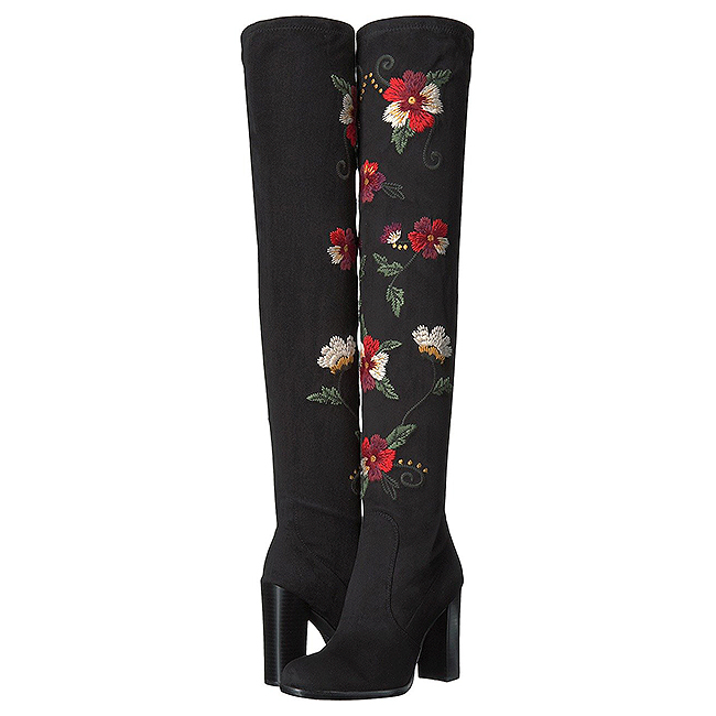 Sam Edelman embroidered over the knee boots