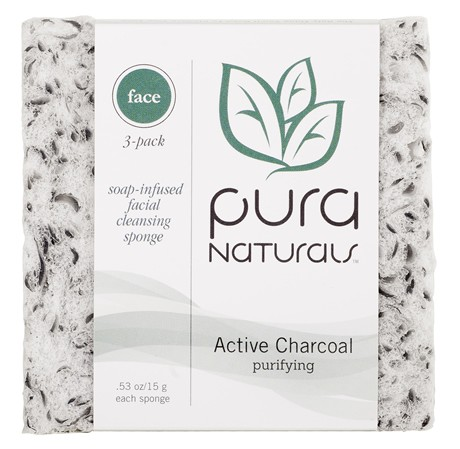 Pura Naturals Soap-Infused Active Charcoal Face Slice