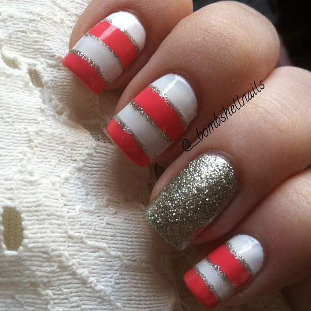 Red Ombre Nails Christmas.All That Glitters Gold Nail Designs We Love More