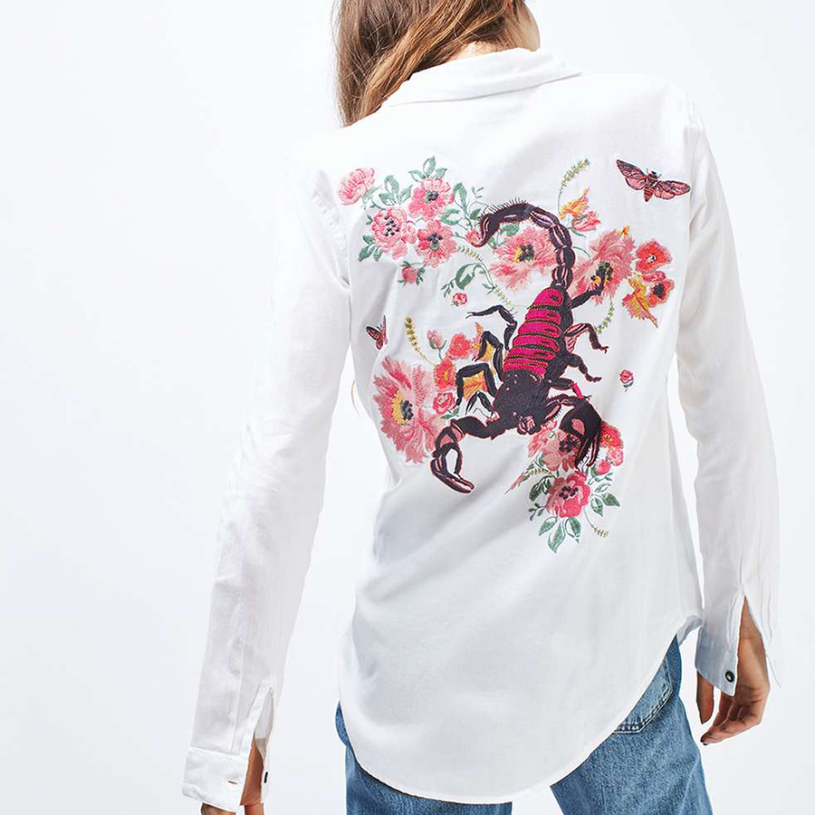 Topshop's Embroidered Scorpion Shirt