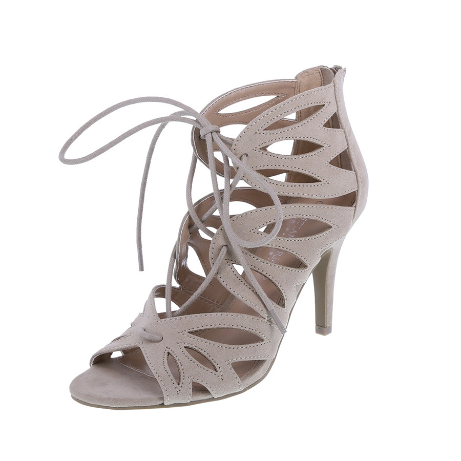 ghillie laced nude heels