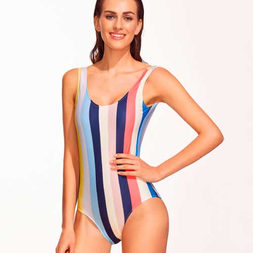 Save: SheIn Striped Backless One-Piece