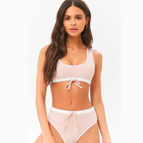 Save: Forever 21 Ribbed Contrast Bikini