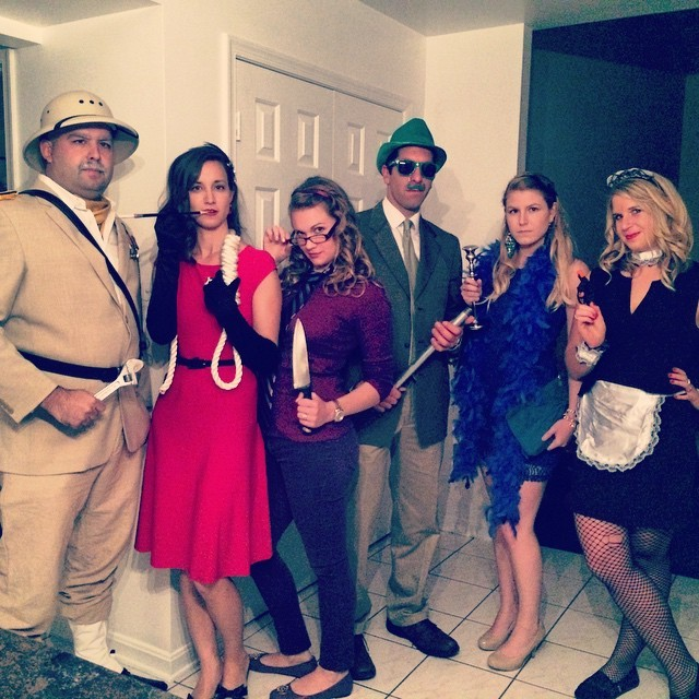 board game clue group halloween costume