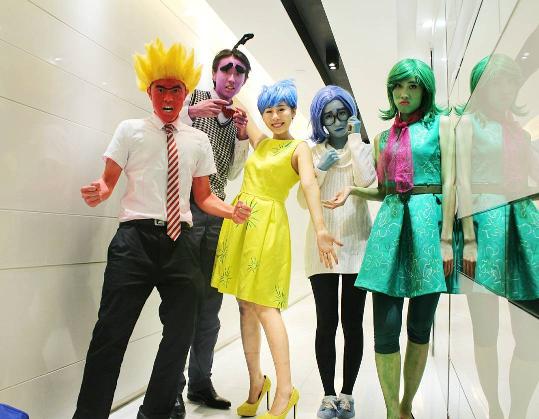 inside out disney pixar group halloween costume
