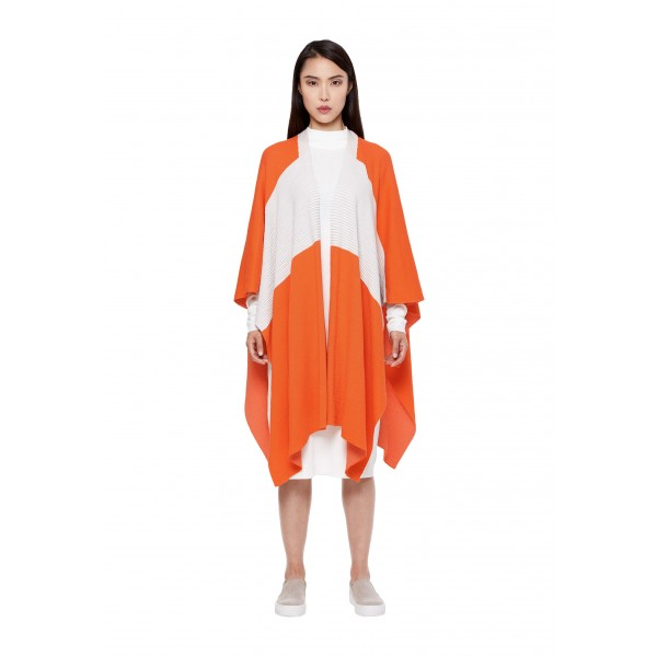 Make a fashion statement in this bold cape that resembles a Rebel pilot flightsuit.