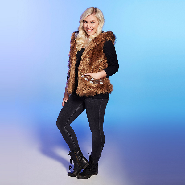 "Turn the faux-fur trend upside down in this Chewbacca-inspired ""fur"" vest."