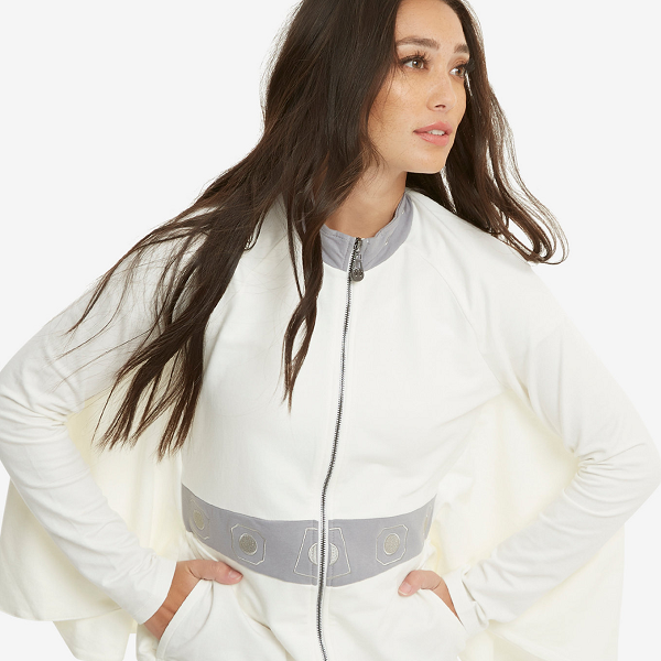 All Hail Princess Leia! Leia is a fashion icon in her white hot ensembles across the entire Star Wars franchise, and now we can get the look in this cape jacket.