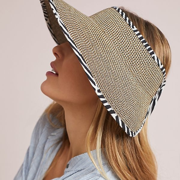 straw visor style sun hats for women