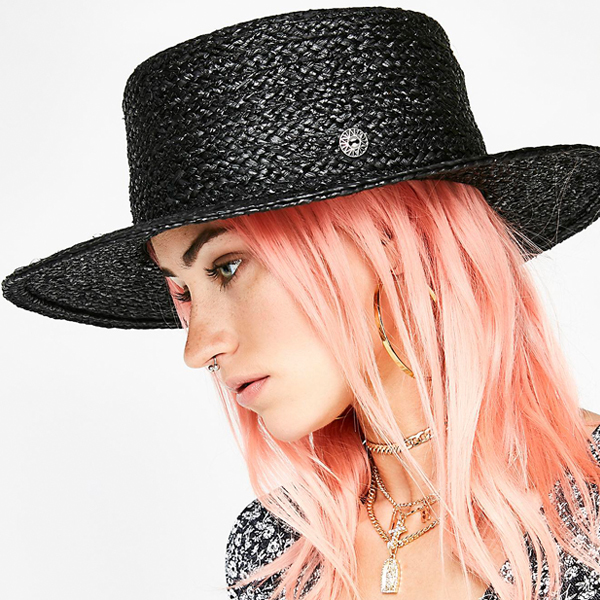 black straw sun hats for women