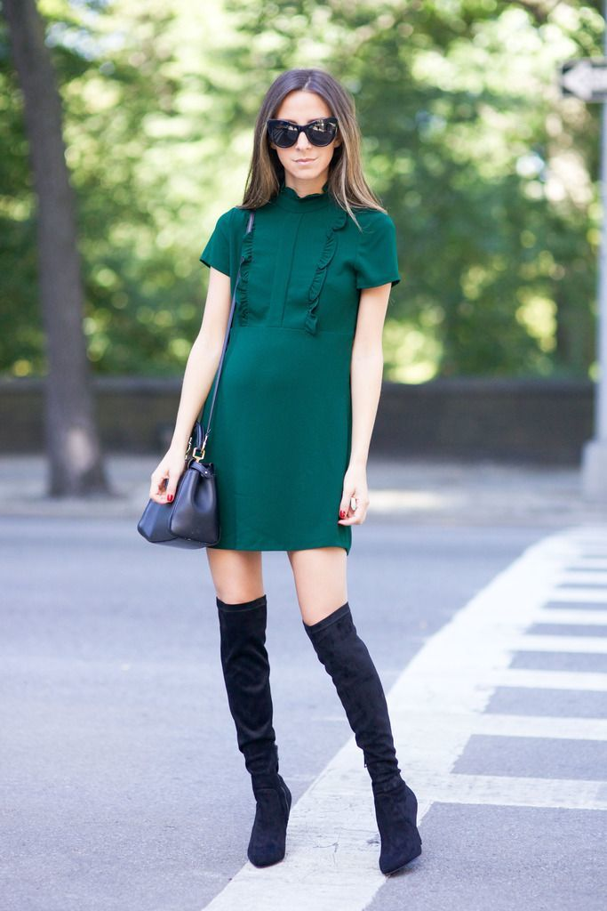 tall boots and dresses