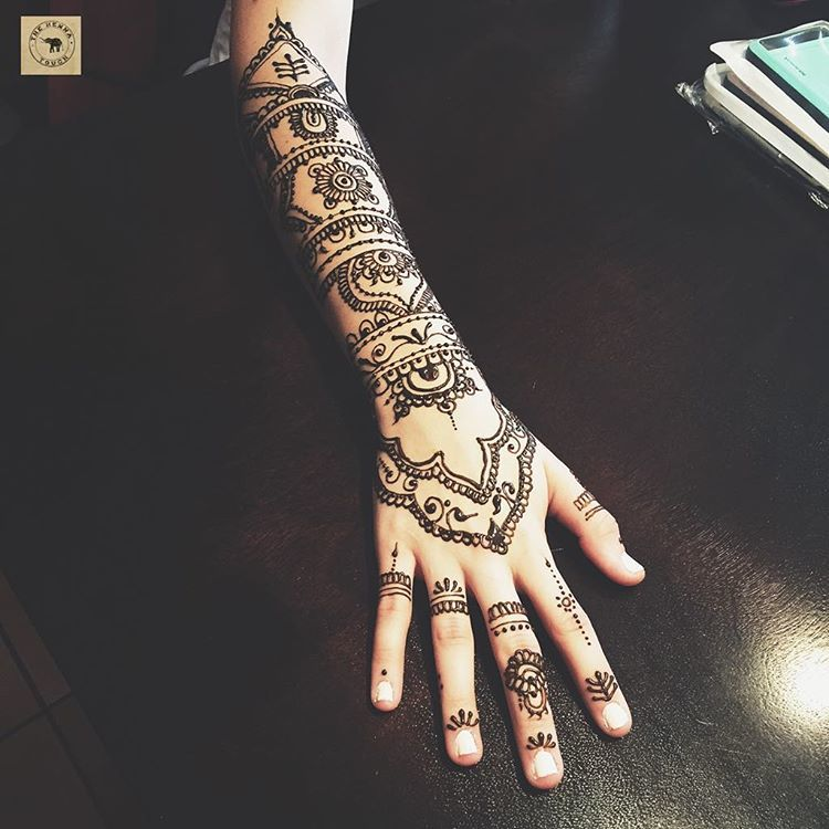 Full Arm Henna Designs: 28 Henna Designs For Hands We're Dying To Try Out