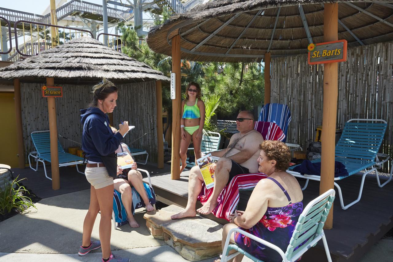 Family In Cabana