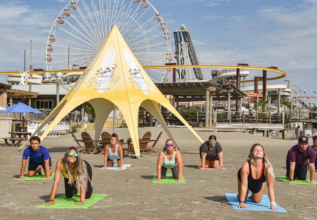 Beach Yoga At Pig Dog10
