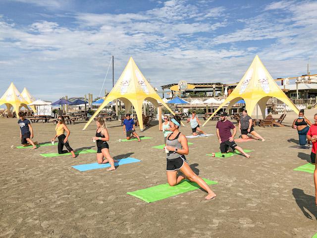 Beach Yoga At Pig Dog21