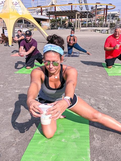 Beach Yoga At Pig Dog22