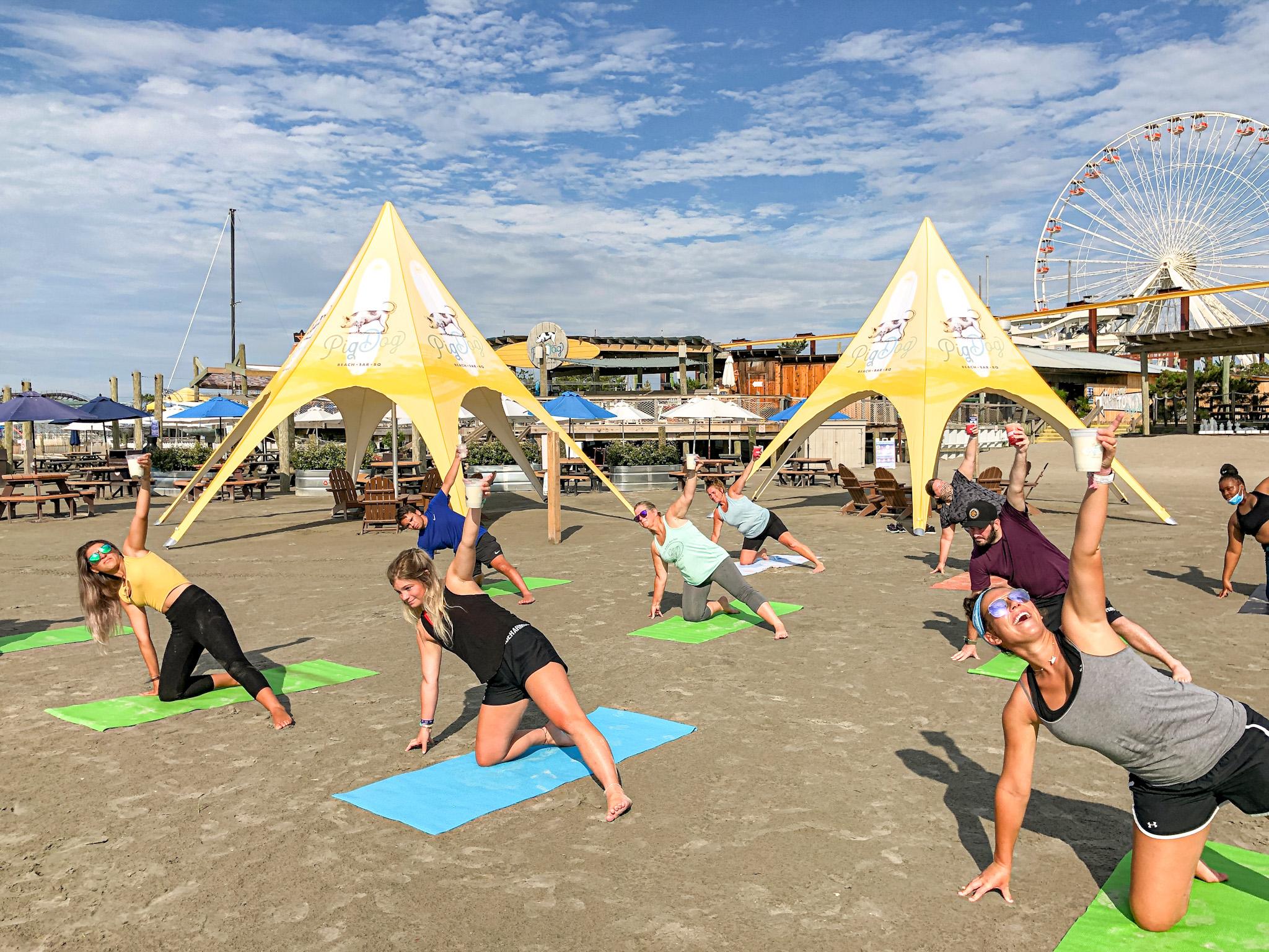 Beach Yoga At Pig Dog24