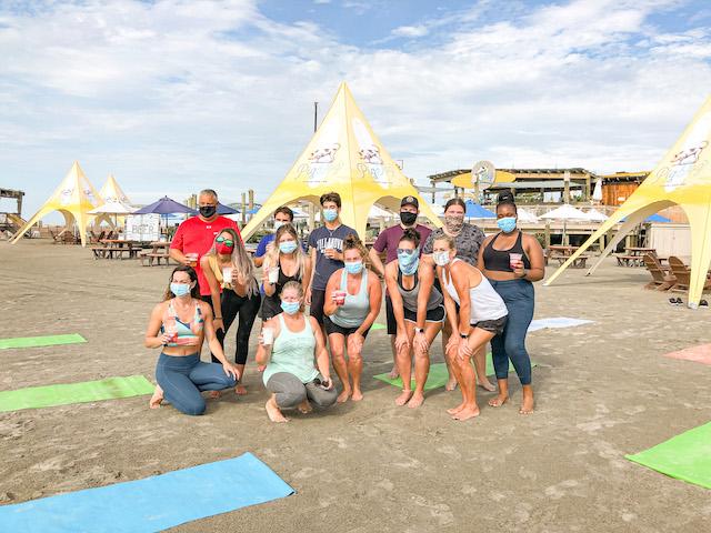Beach Yoga At Pig Dog36
