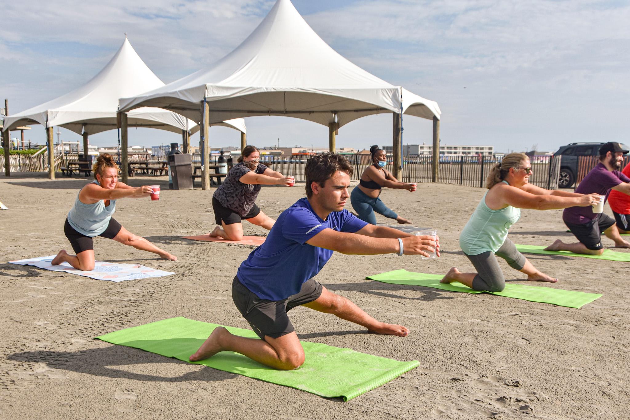 Beach Yoga At Pig Dog8
