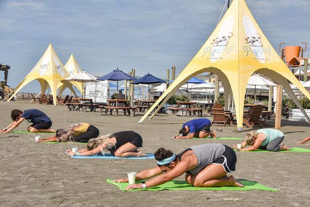 Beach Yoga At Pig Dog9