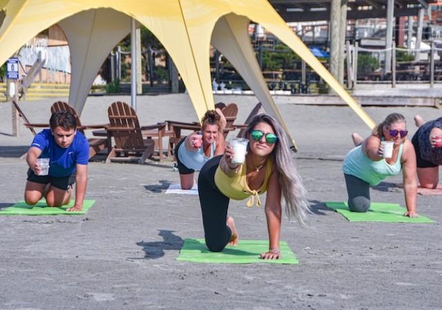 Beach Yoga At Pig Dog7