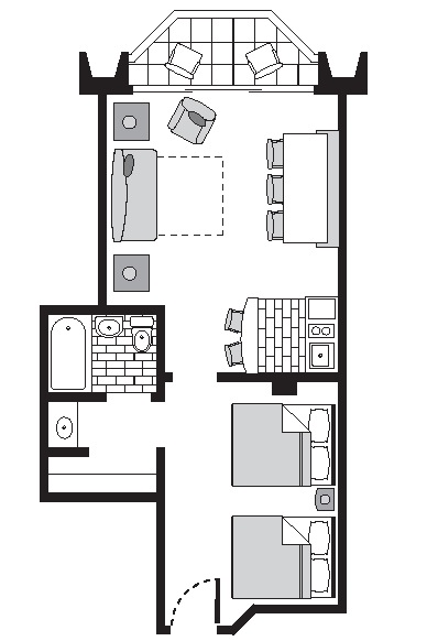 Ocean  Suite  Floorplan  B Unit