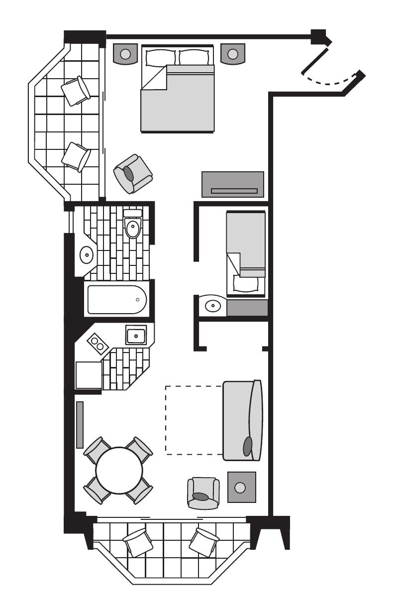 Pr  Deluxe  Ocean  Suite  Room  Plan