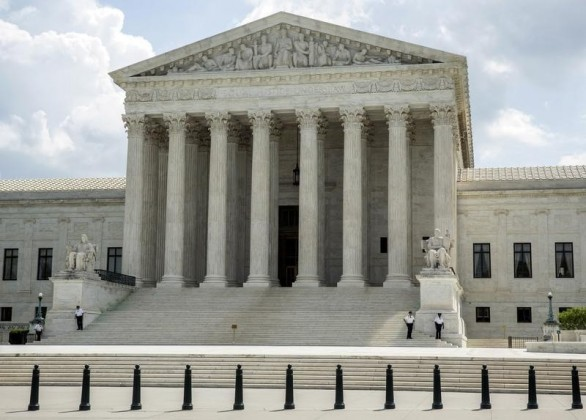 The Supreme Court stands in Washington