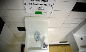 Water fountain in a school near Flint, Michigan
