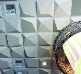 Above View Inc Harrah's Casino Banquet Hall Pyramid Ceiling Tile Design