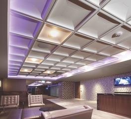 Above View Inc US Bank Stadium Suite Corridors Contemporary Coffer Ceiling Tile Design