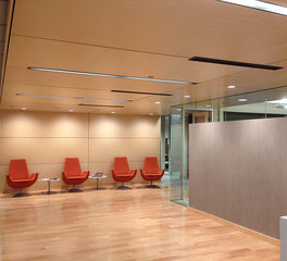 Acoustical Surfaces Microperf Acousticore waiting area