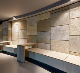 Acoustical Surfaces wood wool wall treatment