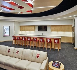 Acuity brands indiana university locker room lounge and bar top