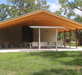 Alamco Wood Products Park Shelter with Restroom Facilities