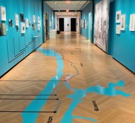Allegheny mountain hardwood flooring WO RQ Clear 3in herringbone City Museum of NYC