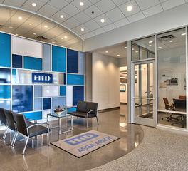 Anderson Companies HID Global lobby design