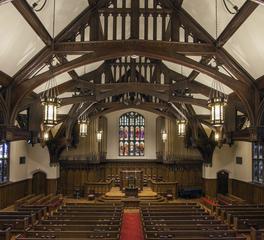 Anderson companies Plymouth Congregational worship church hall