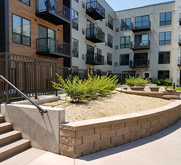 Apartment building exterior building materials
