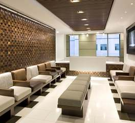 ASI Architectural Systems UCLA Medical Plaza Fusión Wood Panels Waiting Room Design