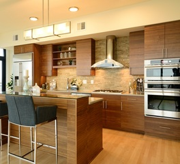 bayer interior woods modern multi-unit kitchen cabinetry
